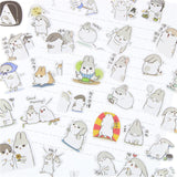 40 Pcs / Beautiful kawaii bunny sticker set