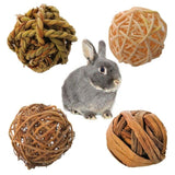 rabbit straw ball toys 4 pack