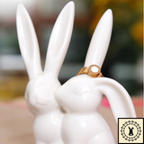 Rabbit Ring Holder - Ceramic figurine