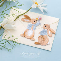 Cute Rabbit Embroidery Iron On Patches