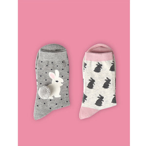 Quality Printed Bunny Socks Rabbit/Owl/PolkaDot/Animal Zoo