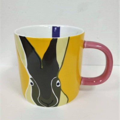 Artistic Hand-painted Bone China Ceramic Rabbit Mugs