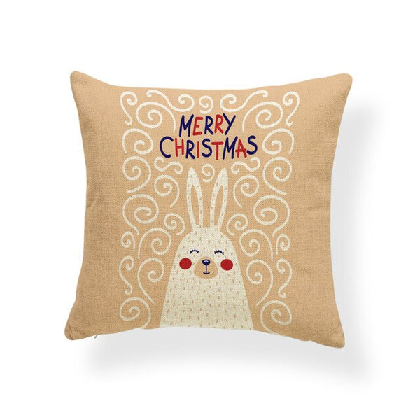 Christmas Rabbit Cushion/Pillowcase Cover