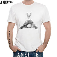 Novelty bunny butt design fashion T-Shirt for Men