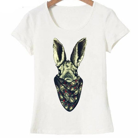 Dangerous bunny design fashion T-Shirt