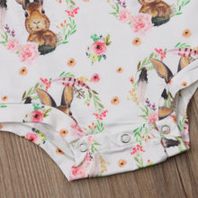 Load image into Gallery viewer, Beautiful Rabbit Print Long Sleeve Romper 0-24M