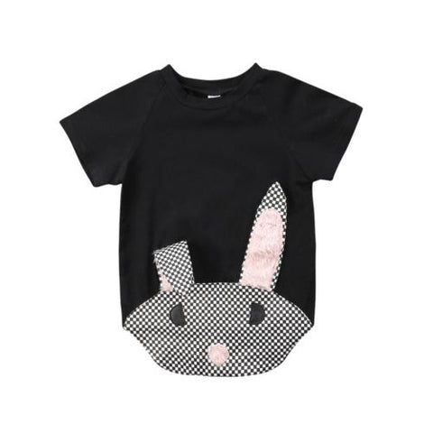 Fashion Bunny Toddler Baby Short Sleeve Rabbit Top 1-6T
