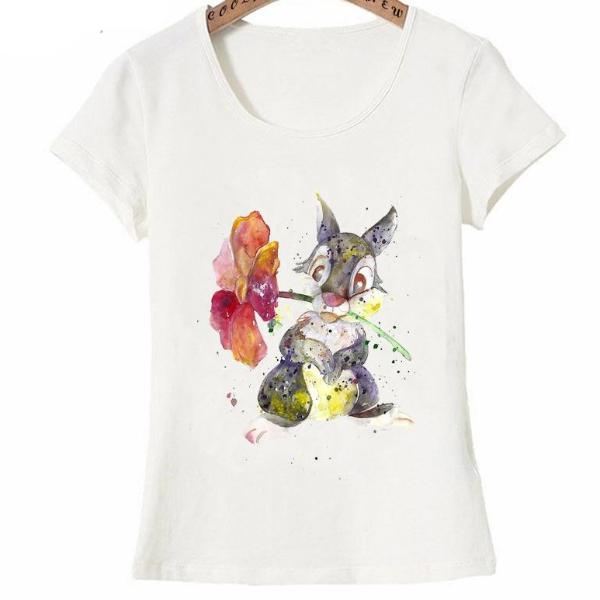 Watercolor Flowers design fashion T-Shirt