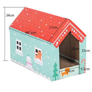 Pet Rabbit Corrugated Cardboard Play House