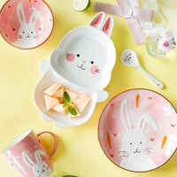 rabbit ceramic tableware set