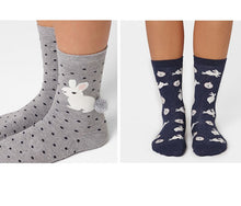 Load image into Gallery viewer, Quality Printed Bunny Socks Rabbit/Owl/PolkaDot/Animal Zoo