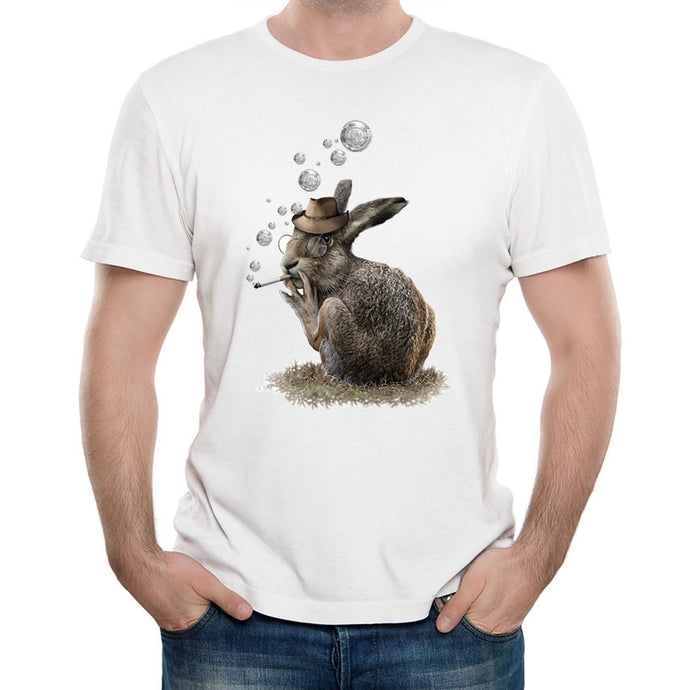 Hipster cool bunny design fashion T-Shirt for Men