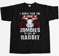 Funny Zombies Rabbit T-Shirt