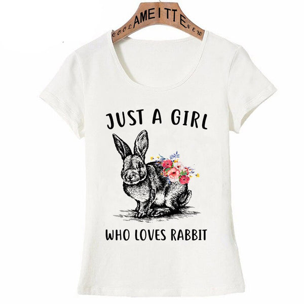 Just a Girl Who Loves Rabbit T-Shirt