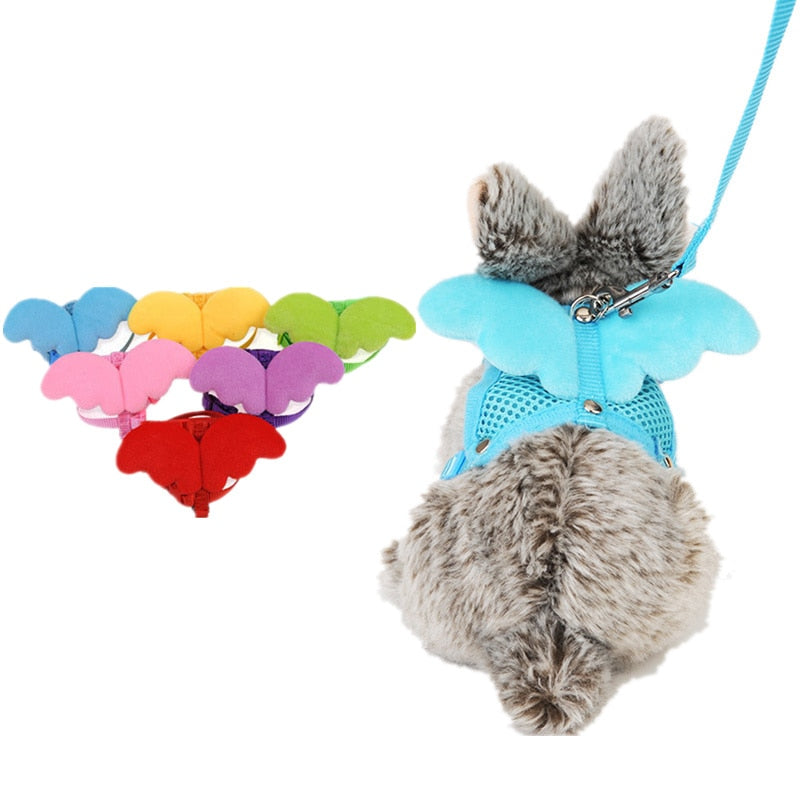 Angel Wing Rabbit Harness And Leash Set