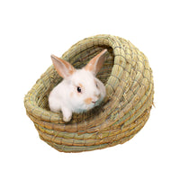 Natural Straw Rabbit Basket Nest