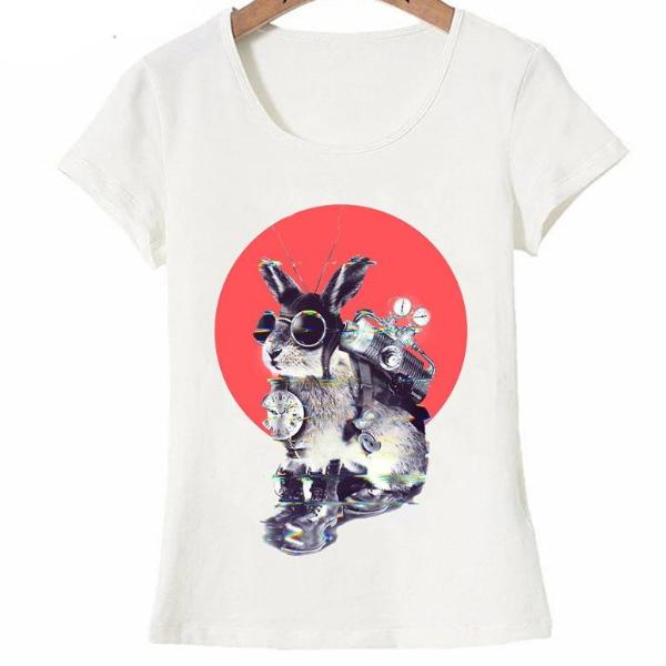 Time Traveller bunny design fashion T-Shirt