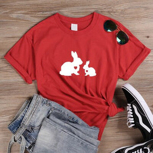 Momma & Baby Rabbit T Shirt