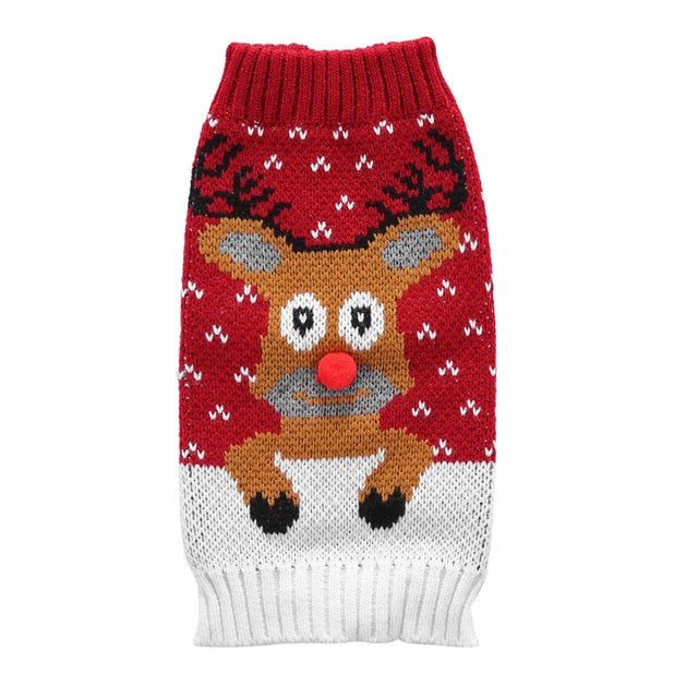Rabbit Christmas Sweater Warm Knitted Woolen Jumper