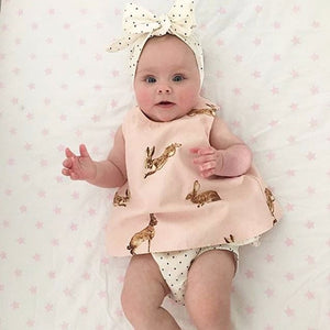 Cute Rabbit Printed Baby/Toddler Set