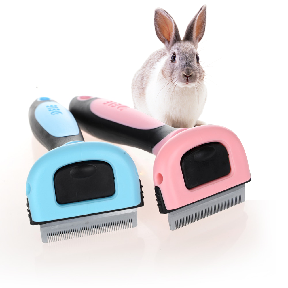 Rabbit Hair Grooming Brush + FREE Grooming Glove