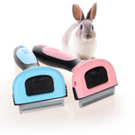 Rabbit Hair Grooming Brush + FREE glove attachment.