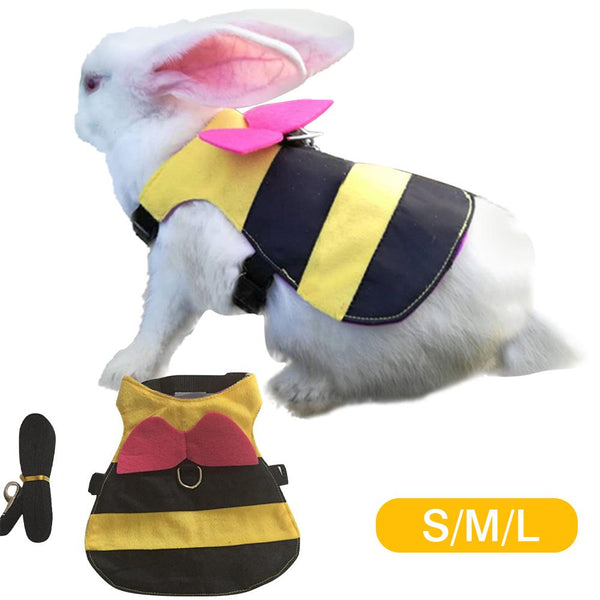 Rabbit Bumblebee Harness and Leash Set