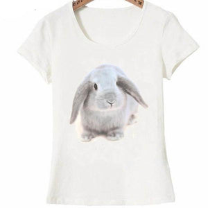 Neutral bunny design fashion T-Shirt