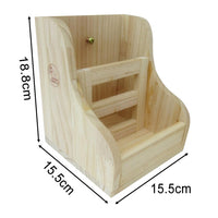 Wooden Straw Feeder for Rabbits