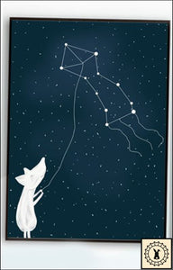 Animals In The Night Sky Canvas Print. 5 Inch X 7 / Constellation