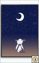 Load image into Gallery viewer, Animals In The Night Sky Canvas Print. 5 Inch X 7 / Moon