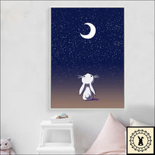 Load image into Gallery viewer, Animals In The Night Sky Canvas Print.