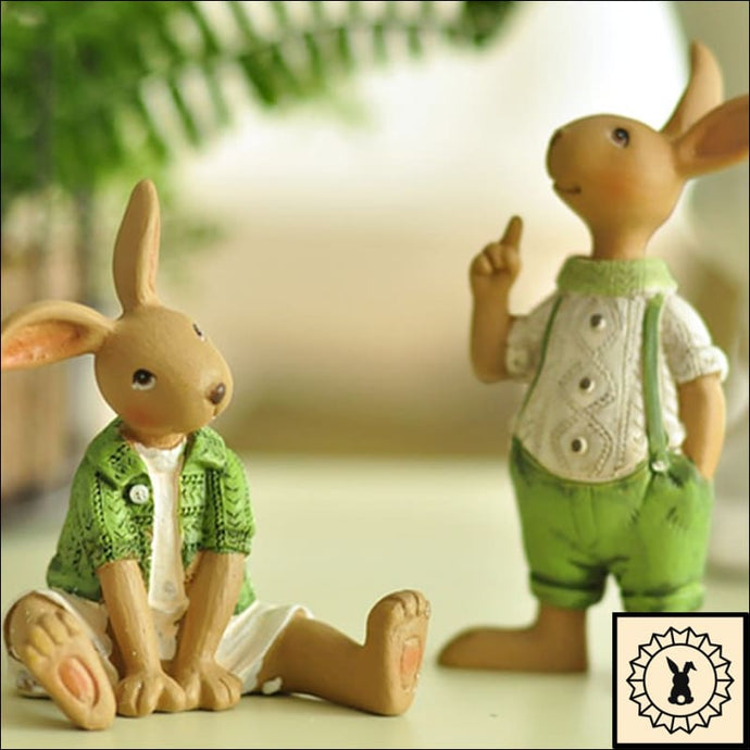 Artistic Rabbit Family Sculptures.