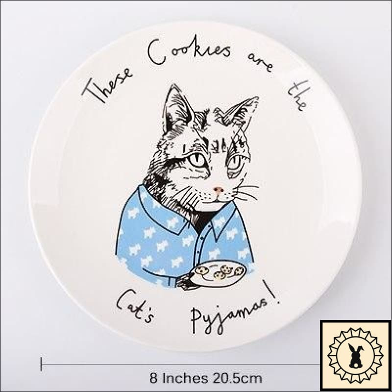 Awesome Animals Bone China Plates Cat