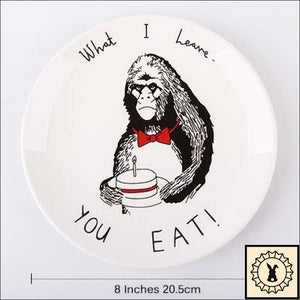 Awesome Animals Bone China Plates Gorilla