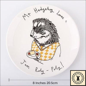 Awesome Animals Bone China Plates Hedgehog