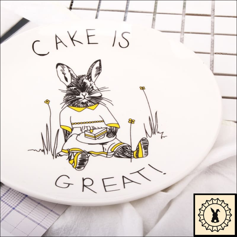 Awesome Animals Bone China Plates Rabbit