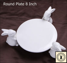Load image into Gallery viewer, Ceramic Cake Stand. Round 8 Inch.