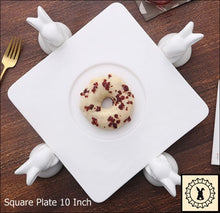 Load image into Gallery viewer, Ceramic Cake Stand. Square 10 Inch.