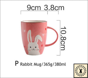 Ceramic Tableware Set. Rabbit Mug.