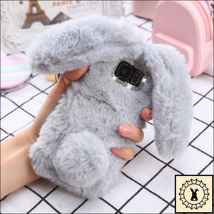 Fluffy Faux-Fur Phone Case For Samsung + Iphone. Grey / S6 Edge