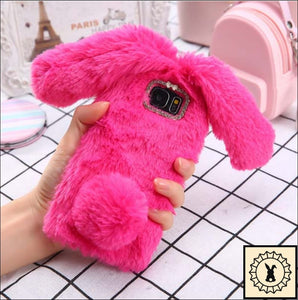 Fluffy Faux-Fur Phone Case For Samsung + Iphone. Rose / S6 Edge