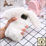 Fluffy Faux-Fur Phone Case For Samsung + Iphone. White / S6 Edge