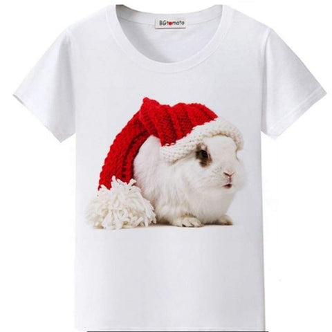 Funny Christmas Rabbit T-Shirt By Bgtomato©