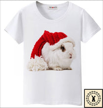 Load image into Gallery viewer, Funny Christmas Rabbit T-Shirt By Bgtomato© Small. / White.