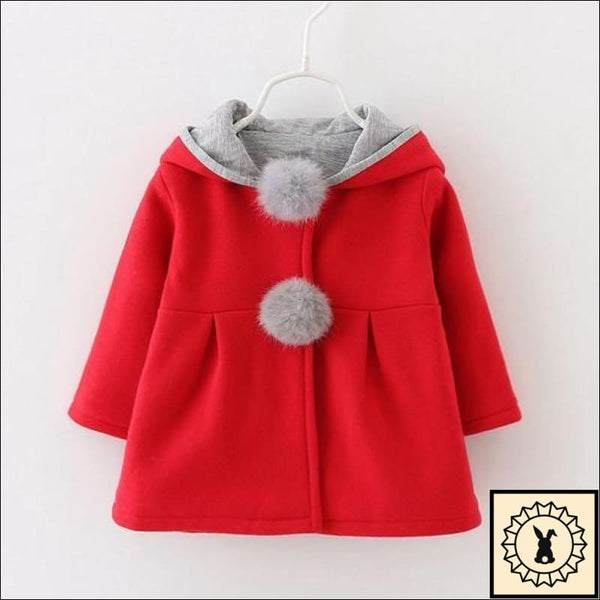 Girls Hooded Coat By Sundae Angel. Red. 12M