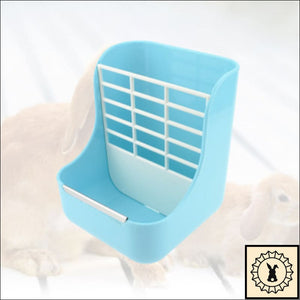 Hay Feeder With Bowl. Blue.