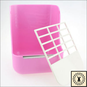 Hay Feeder With Bowl. Pink.