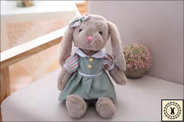 Rabbit Plush Dolls. Pastel Green