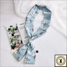 Load image into Gallery viewer, Rabbit Print Scarf By Bambi. Celeste (Blue)